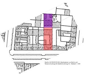 Das Grundstück Reichenberger 114 mit der Fabrik
